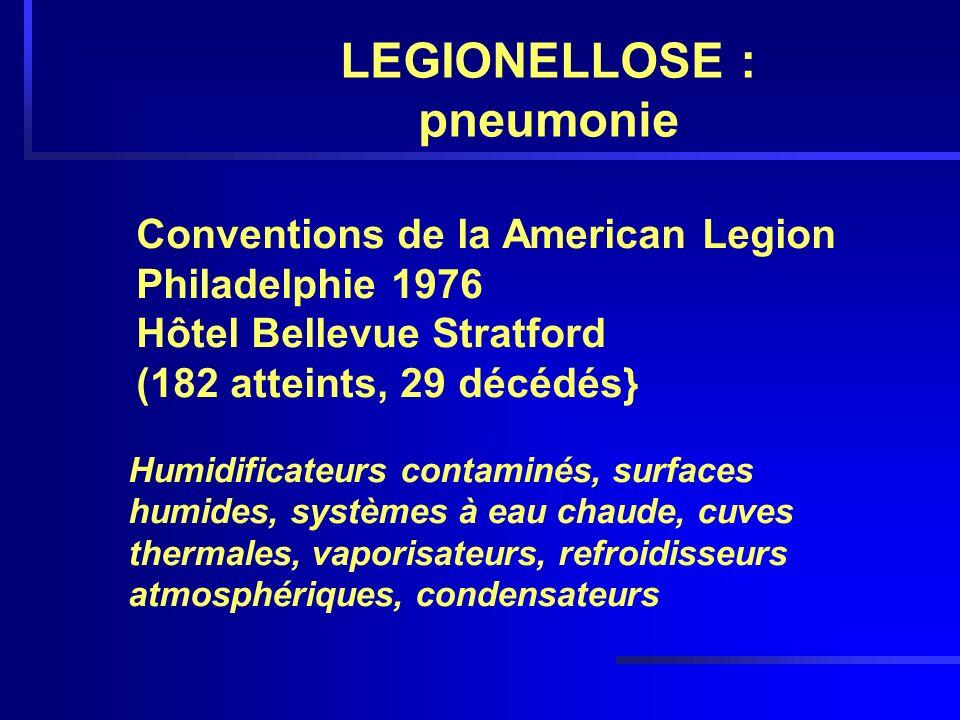 LEGIONELLOSE : pneumonie
