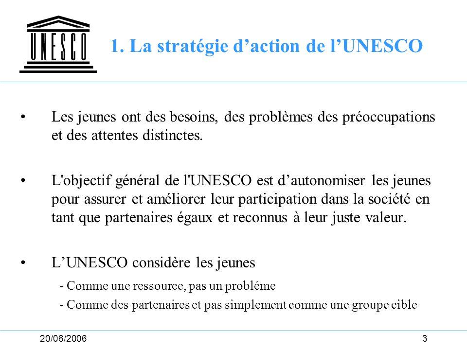 1. La stratégie d'action de l'UNESCO