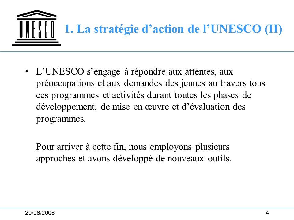 1. La stratégie d'action de l'UNESCO (II)