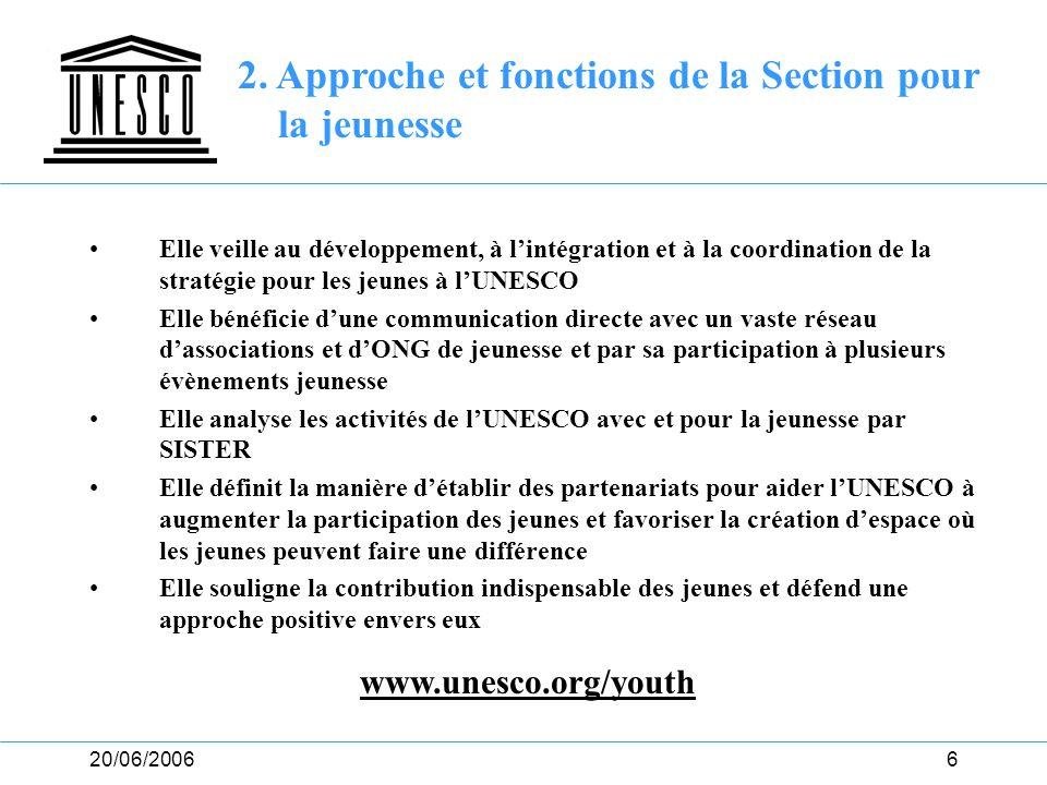 2. Approche et fonctions de la Section pour la jeunesse