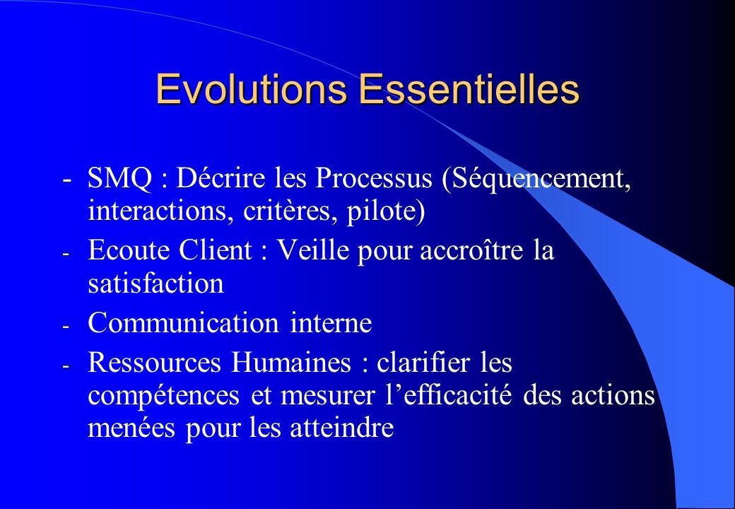 Evolutions Essentielles