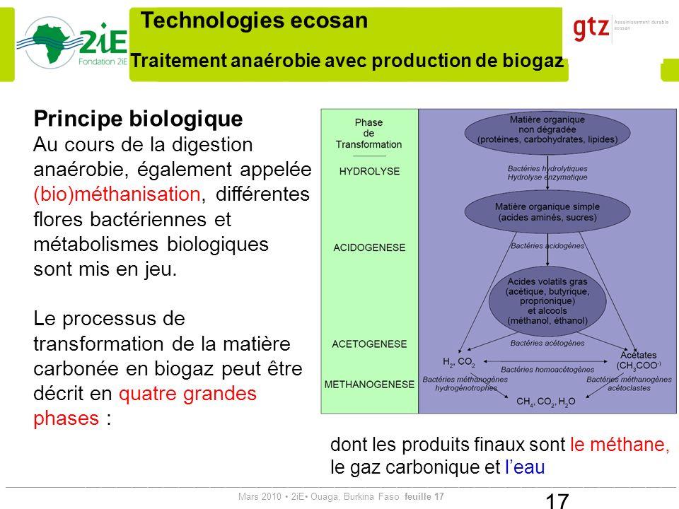 Traitement anaérobie avec production de biogaz
