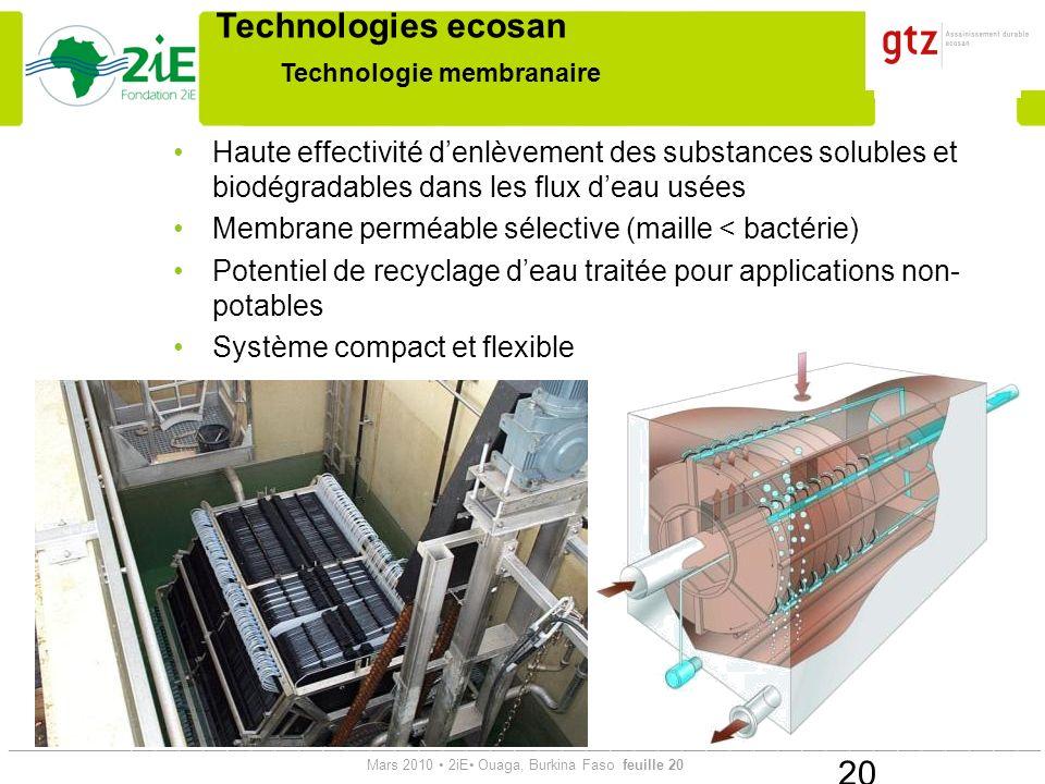Technologie membranaire