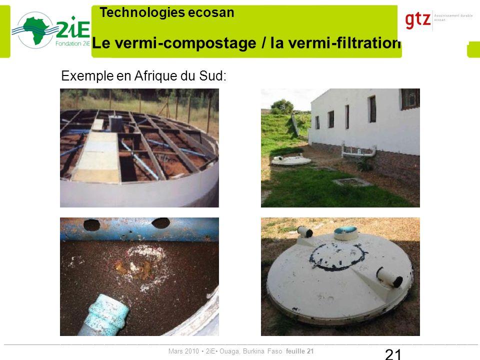 Le vermi-compostage / la vermi-filtration