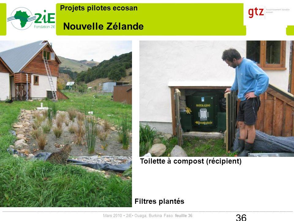 Nouvelle Zélande Projets pilotes ecosan Toilette à compost (récipient)