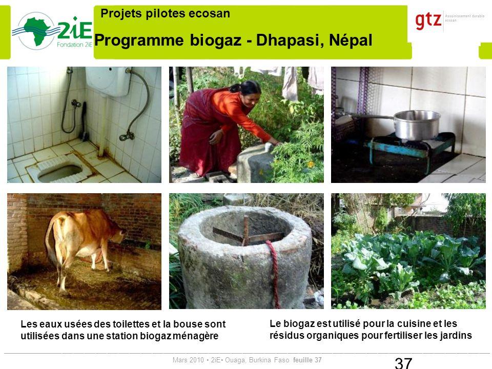 Programme biogaz - Dhapasi, Népal