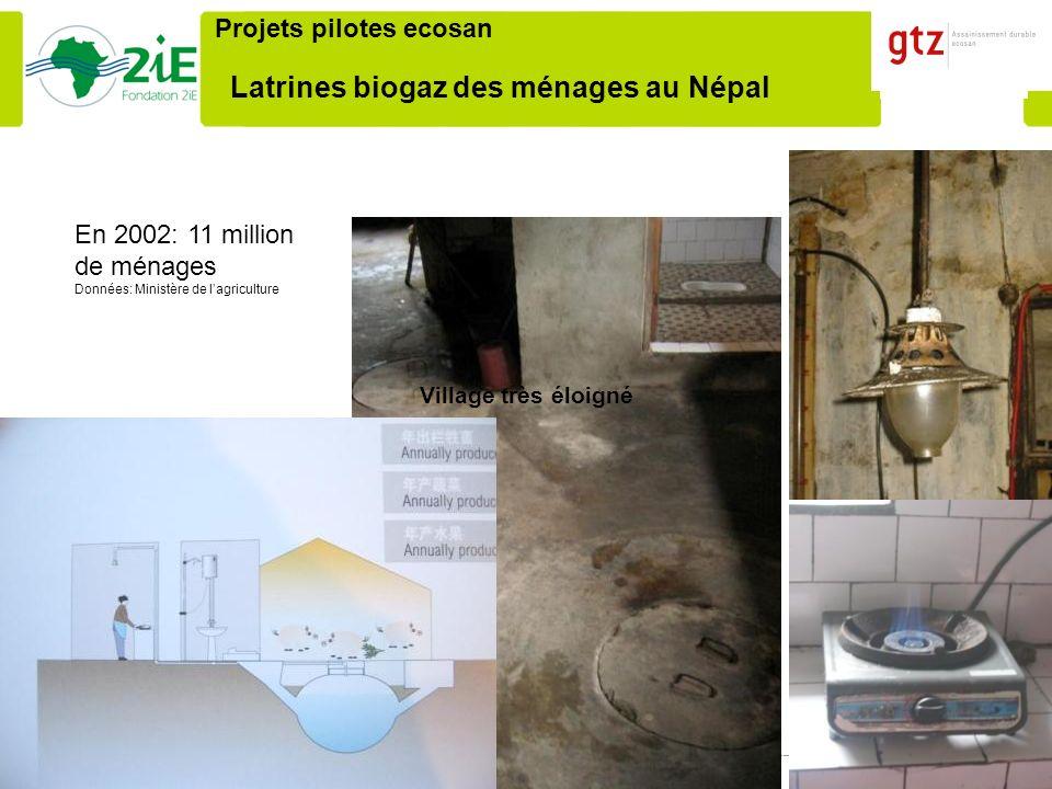 Latrines biogaz des ménages au Népal