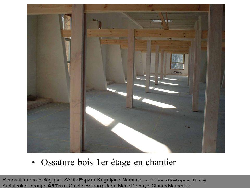 Ossature bois 1er étage en chantier