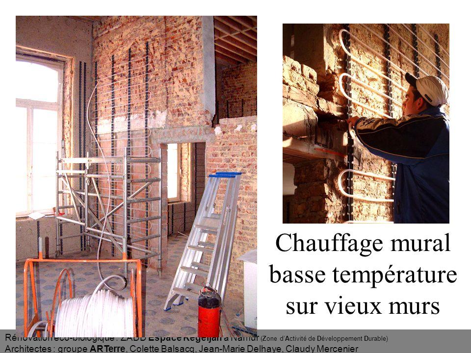 Chauffage mural basse température sur vieux murs