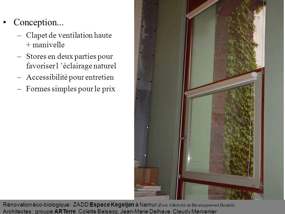 Conception... Clapet de ventilation haute + manivelle