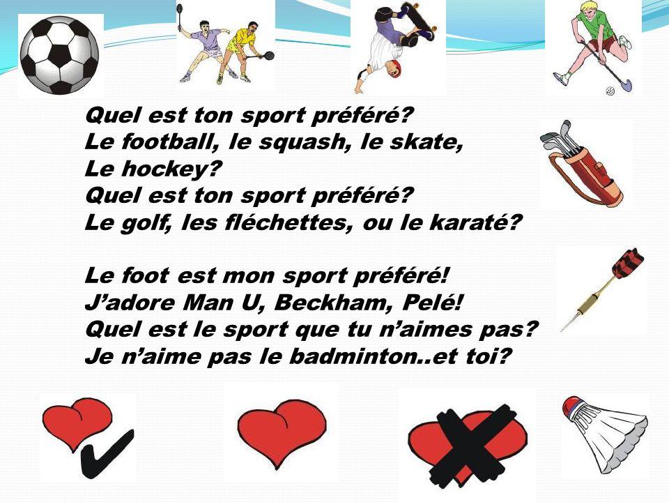 Quel est ton sport préféré