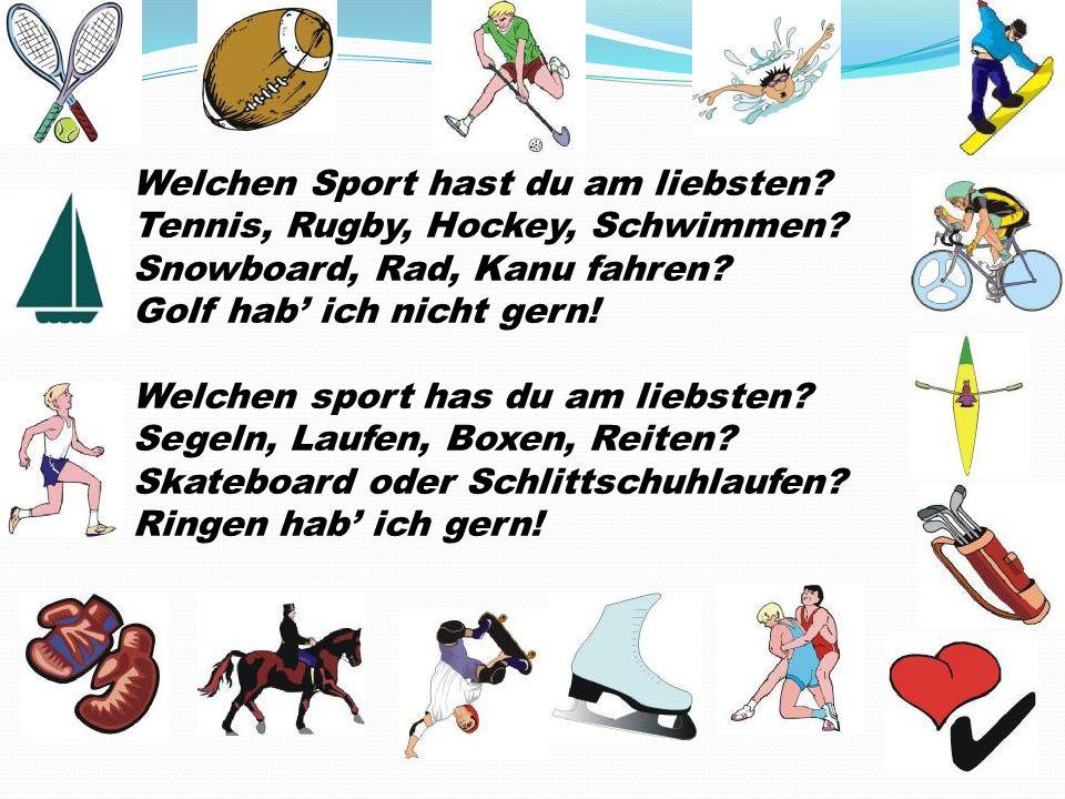 Welchen Sport hast du am liebsten