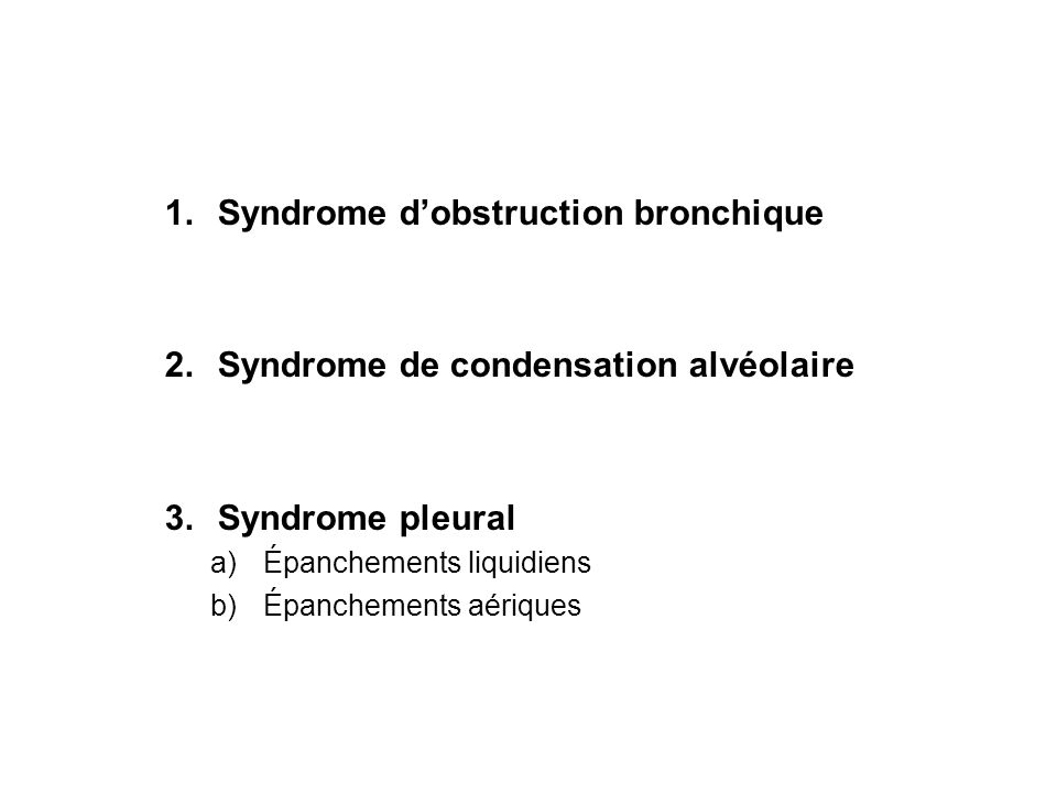 Syndrome d'obstruction bronchique