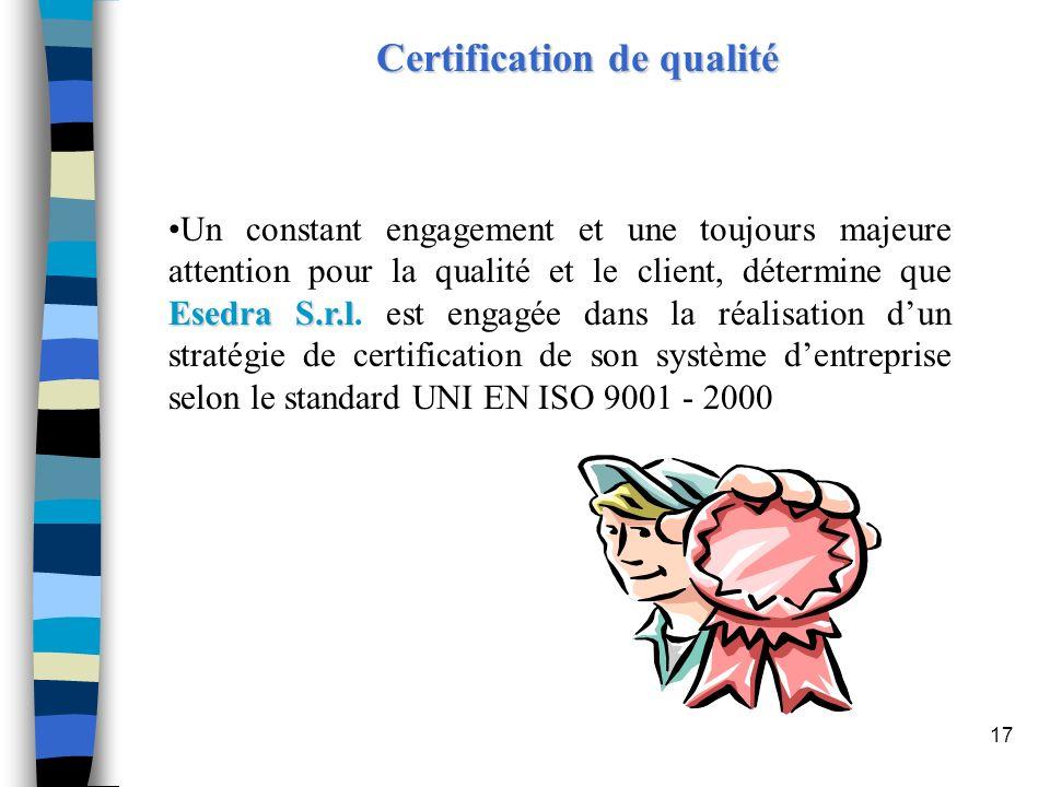 Certification de qualité