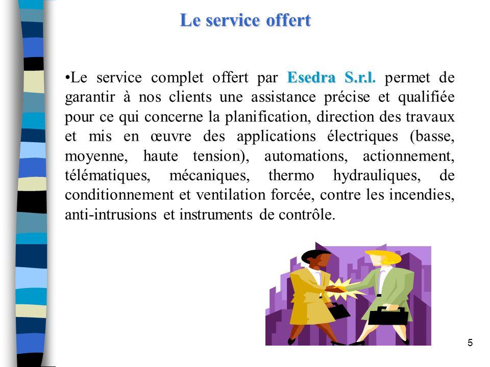 Le service offert