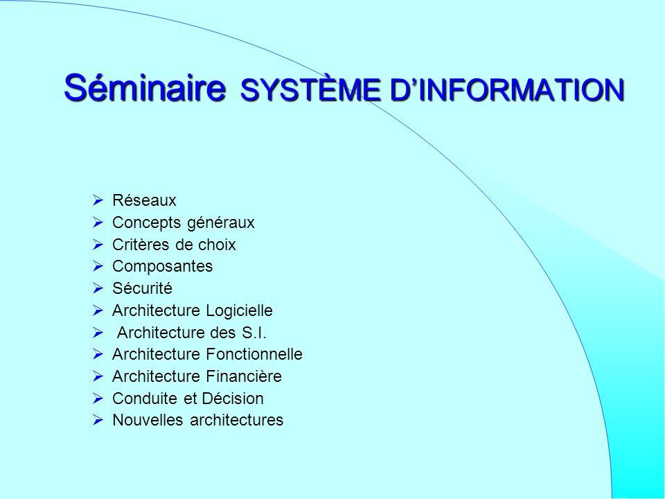 Séminaire SYSTÈME D'INFORMATION