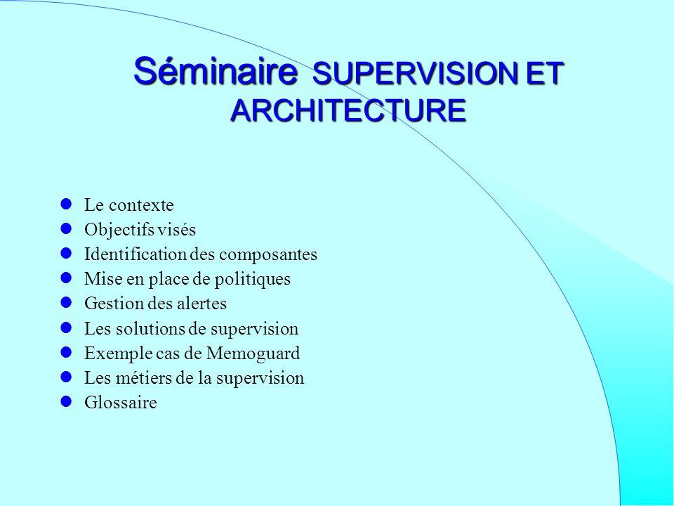 Séminaire SUPERVISION ET ARCHITECTURE
