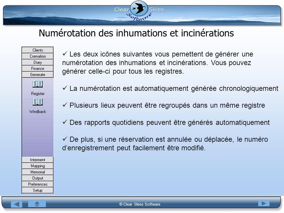 Numérotation des inhumations et incinérations