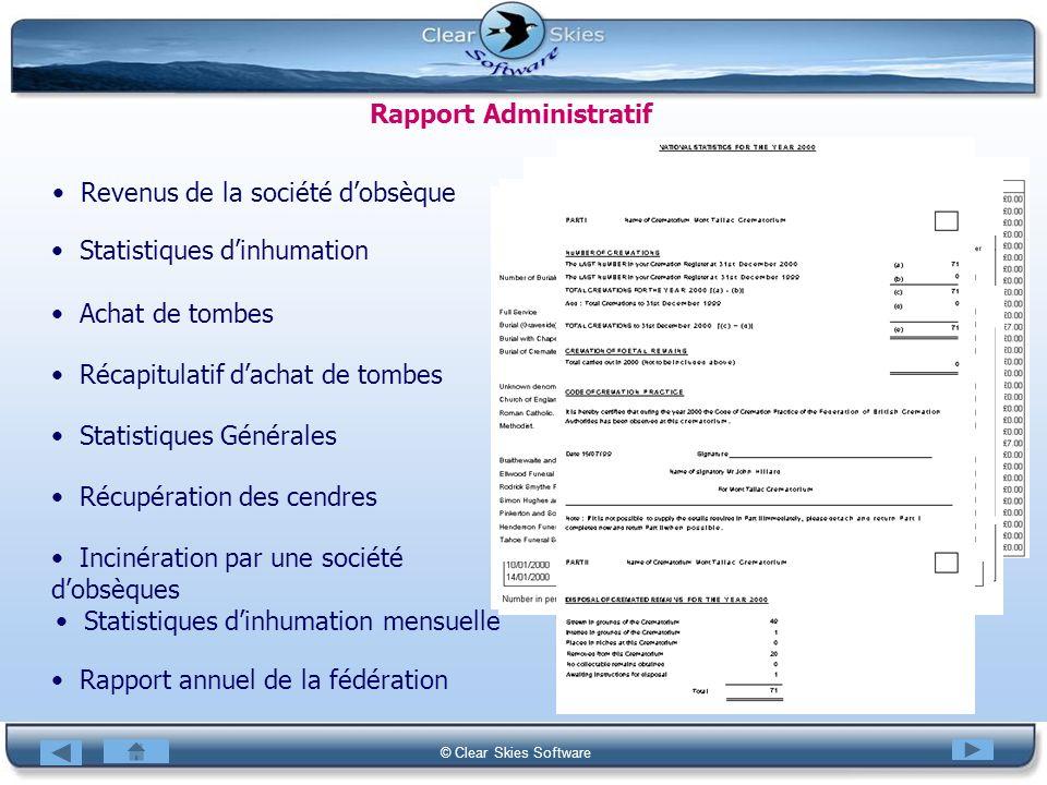 Rapport Administratif