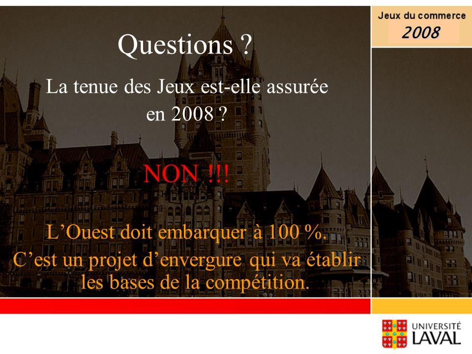 Questions NON !!! La tenue des Jeux est-elle assurée en 2008