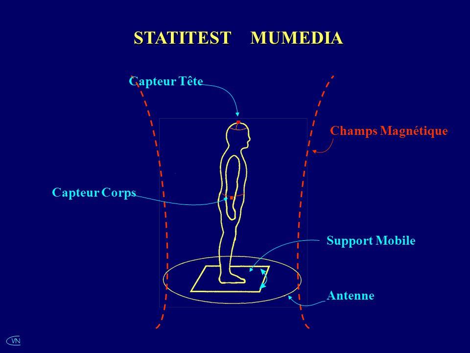 STATITEST MUMEDIA Capteur Tête Champs Magnétique Capteur Corps