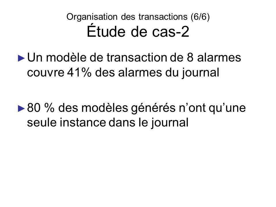 Organisation des transactions (6/6) Étude de cas-2