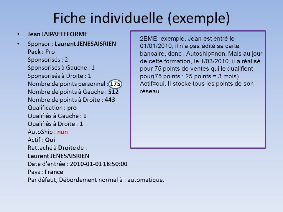Fiche individuelle (exemple)