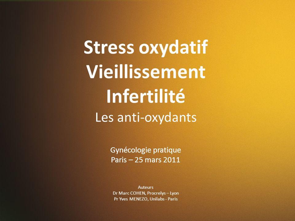 Stress oxydatif Vieillissement Infertilité