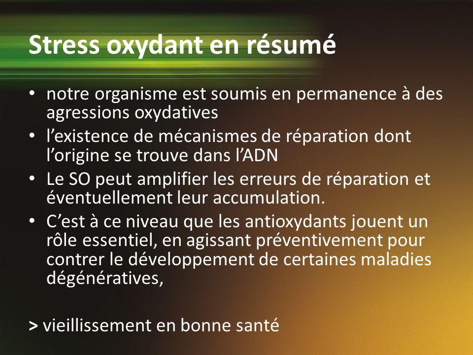 Stress oxydant en résumé