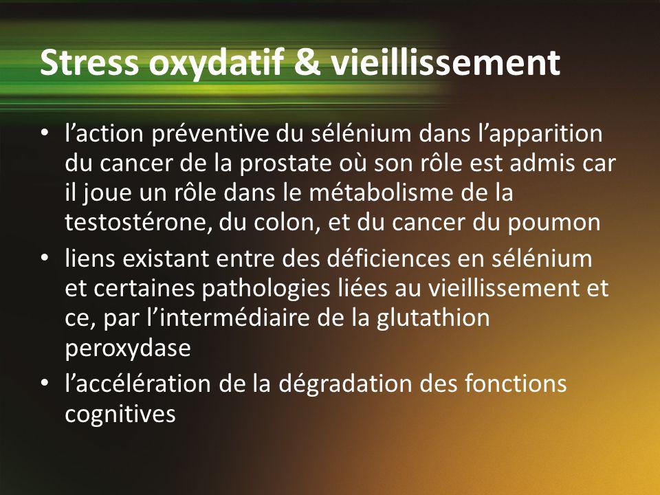 Stress oxydatif & vieillissement