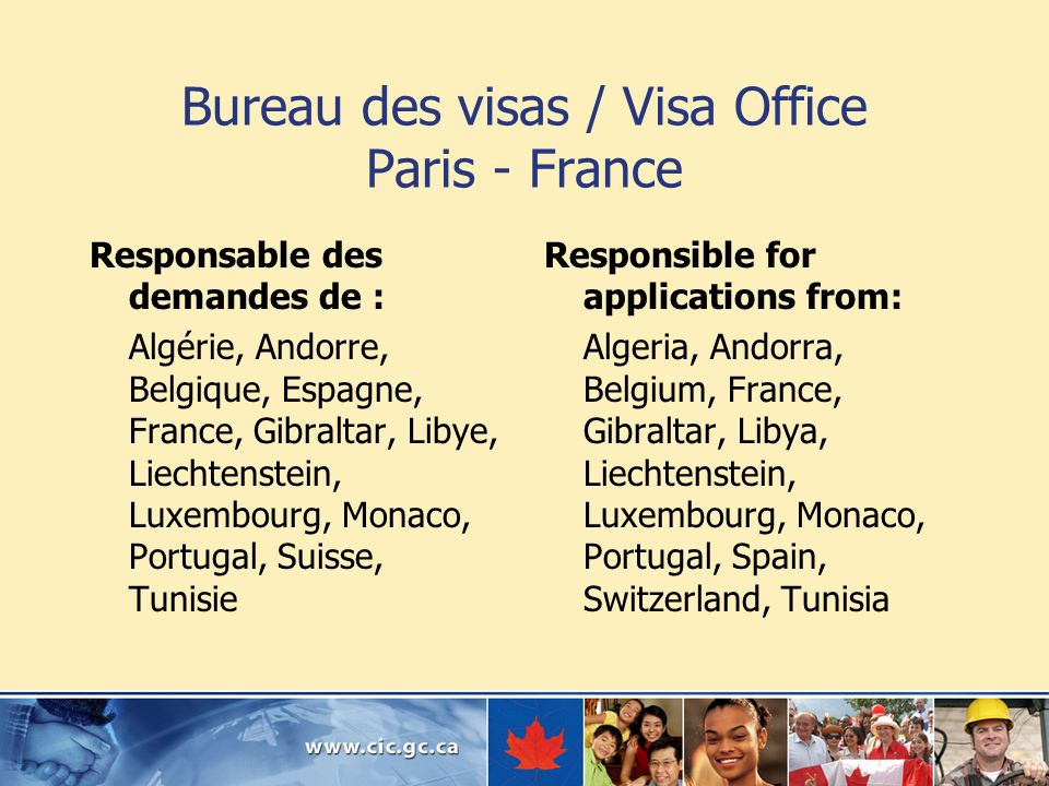 Bureau des visas / Visa Office Paris - France