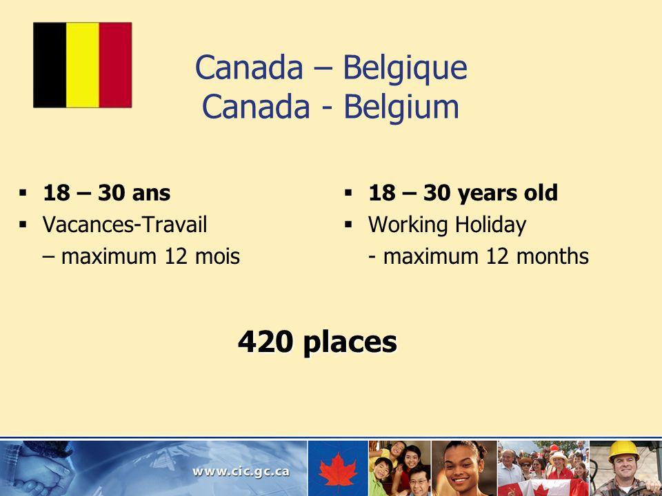 Canada – Belgique Canada - Belgium
