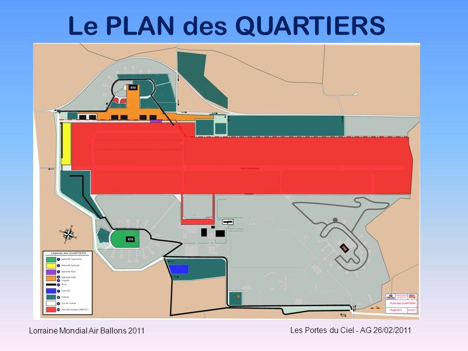 Le PLAN des QUARTIERS Lorraine Mondial Air Ballons 2011