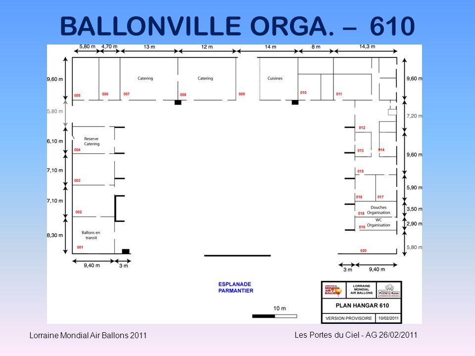 BALLONVILLE ORGA. – 610 Lorraine Mondial Air Ballons 2011