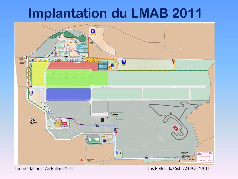 Implantation du LMAB 2011 Lorraine Mondial Air Ballons 2011