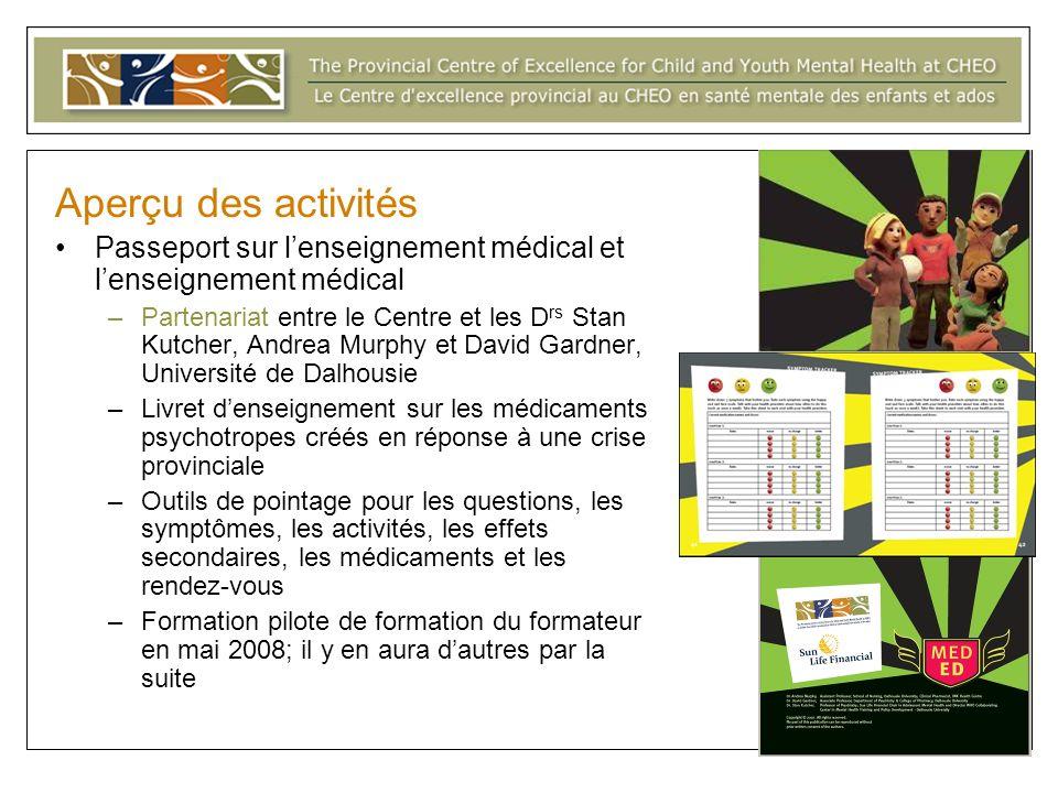 Aperçu des activitésPasseport sur l'enseignement médical et l'enseignement médical.