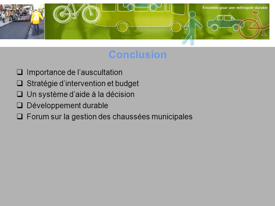 Conclusion Importance de l'auscultation