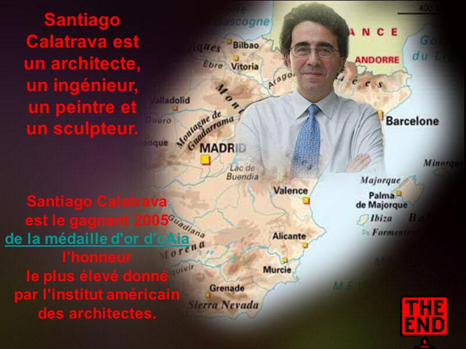 Santiago Calatrava est un architecte, un ingénieur,