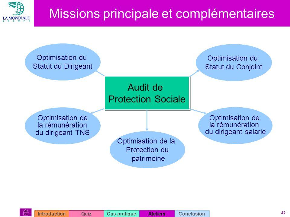 Missions principale et complémentaires
