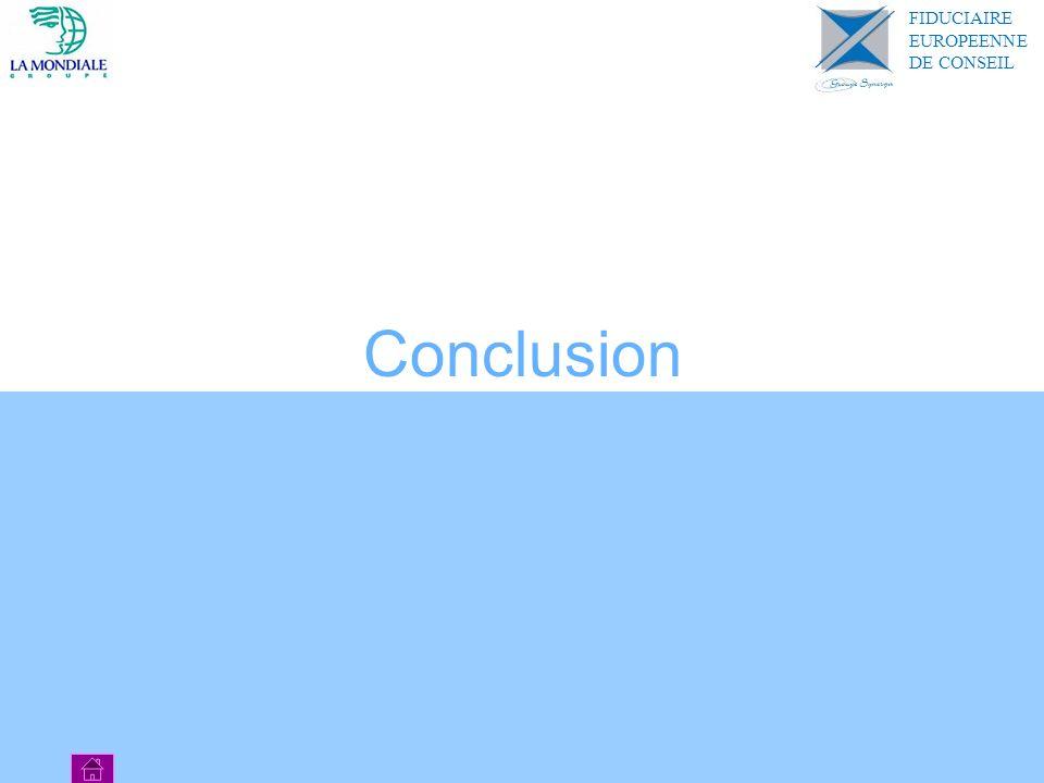 Conclusion FIDUCIAIRE EUROPEENNE DE CONSEIL