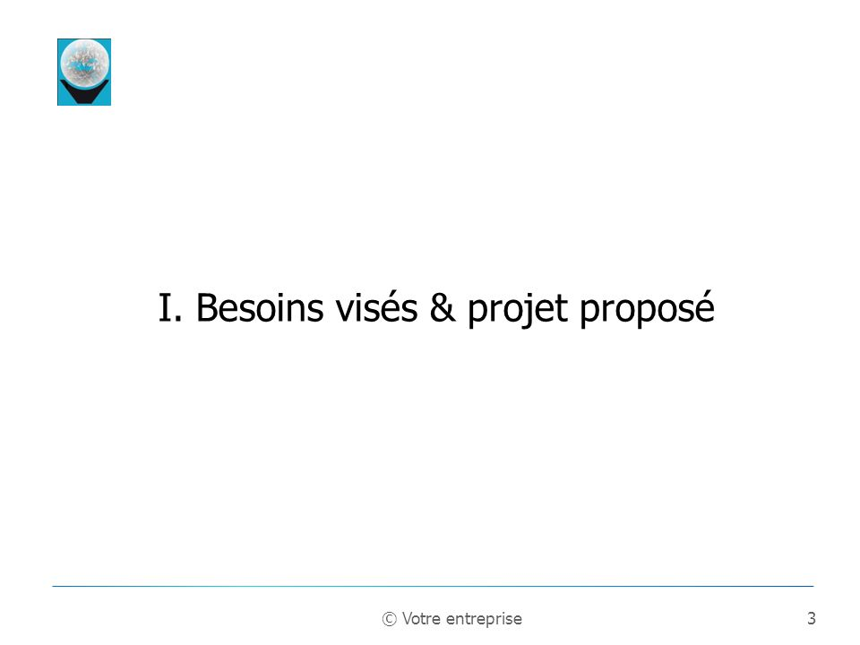 I. Besoins visés & projet proposé
