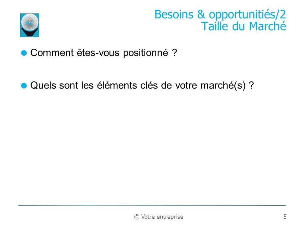 Besoins & opportunitiés/2 Taille du Marché