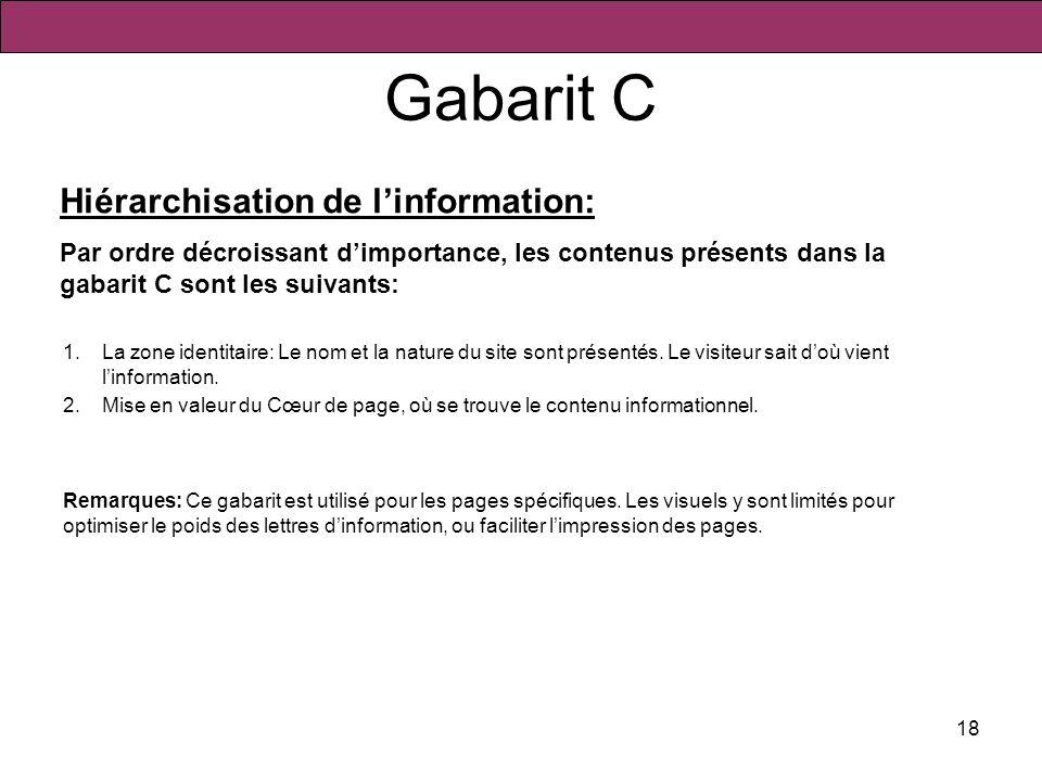 Gabarit C Hiérarchisation de l'information: