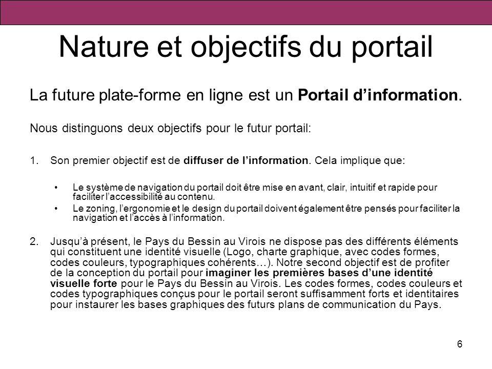 Nature et objectifs du portail