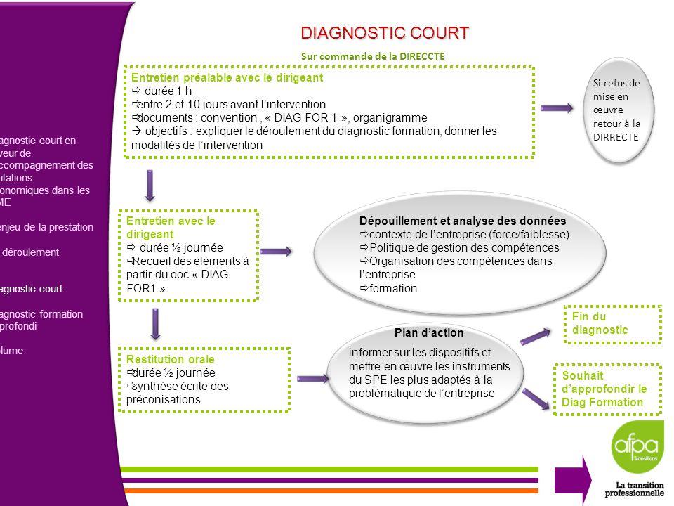 DIAGNOSTIC COURT 4 Sur commande de la DIRECCTE