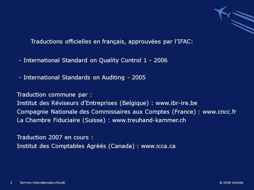 Normes internationales d audit g n ralit s f ppt - Chambre nationale commissaire priseur ...