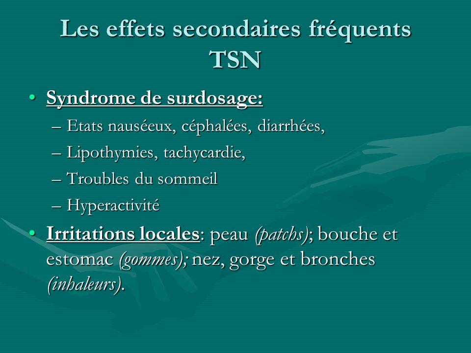 Les effets secondaires fréquents TSN