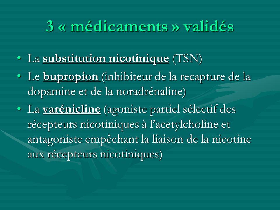 3 « médicaments » validés