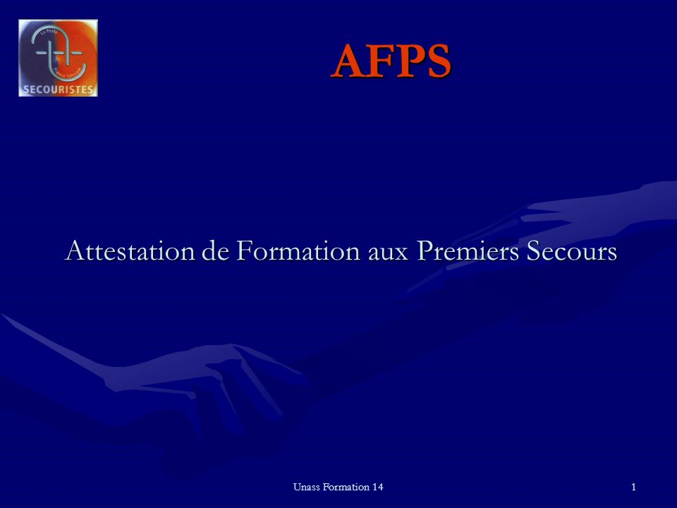 Attestation de Formation aux Premiers Secours