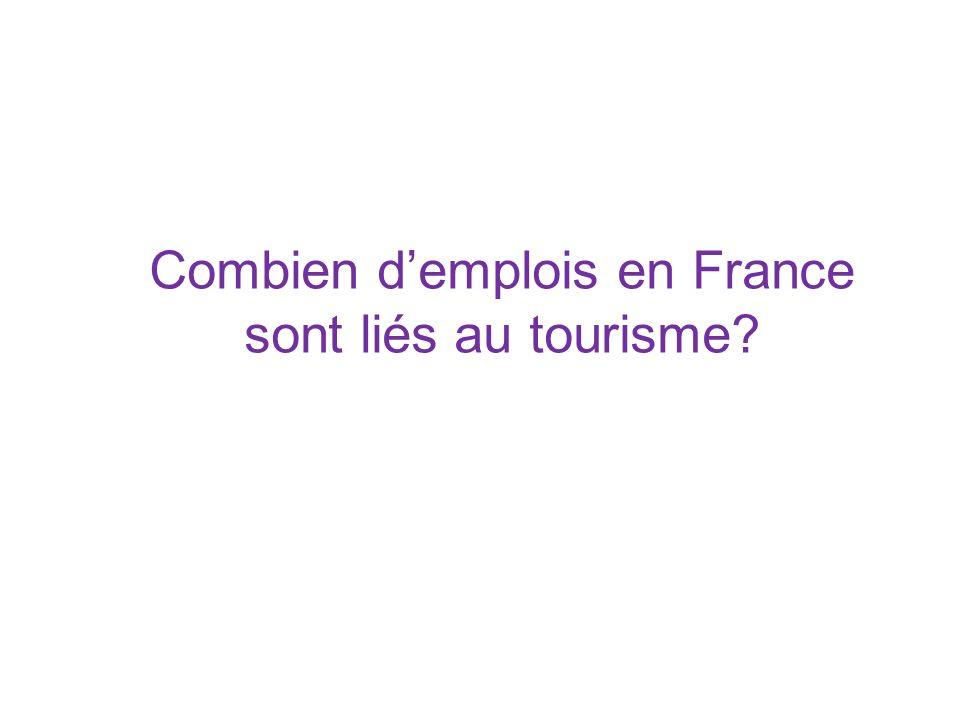 Combien d'emplois en France